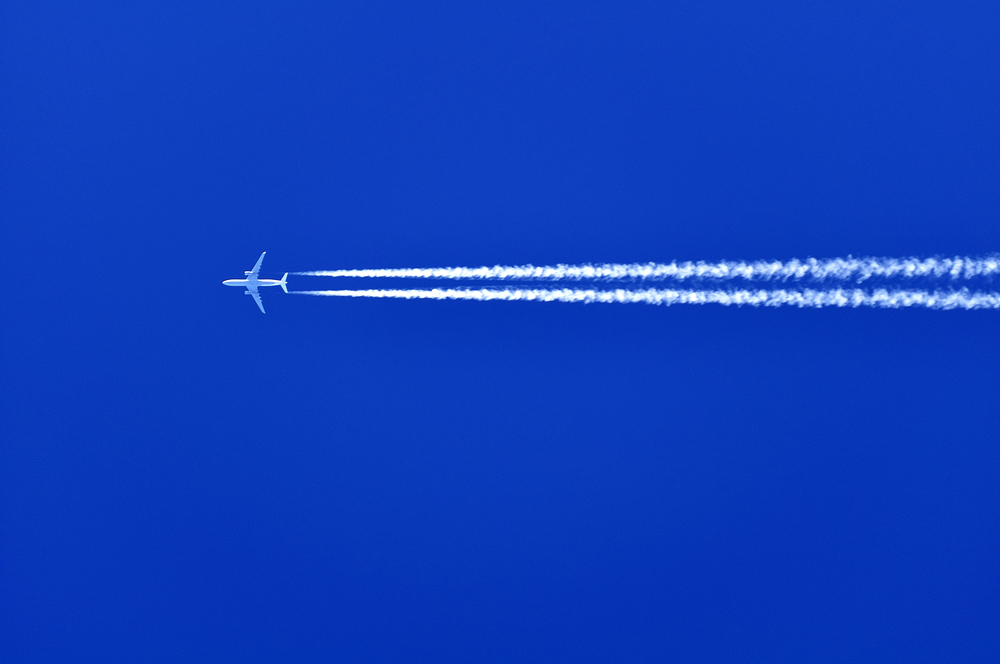 Stunning images of cloud trails created by planes