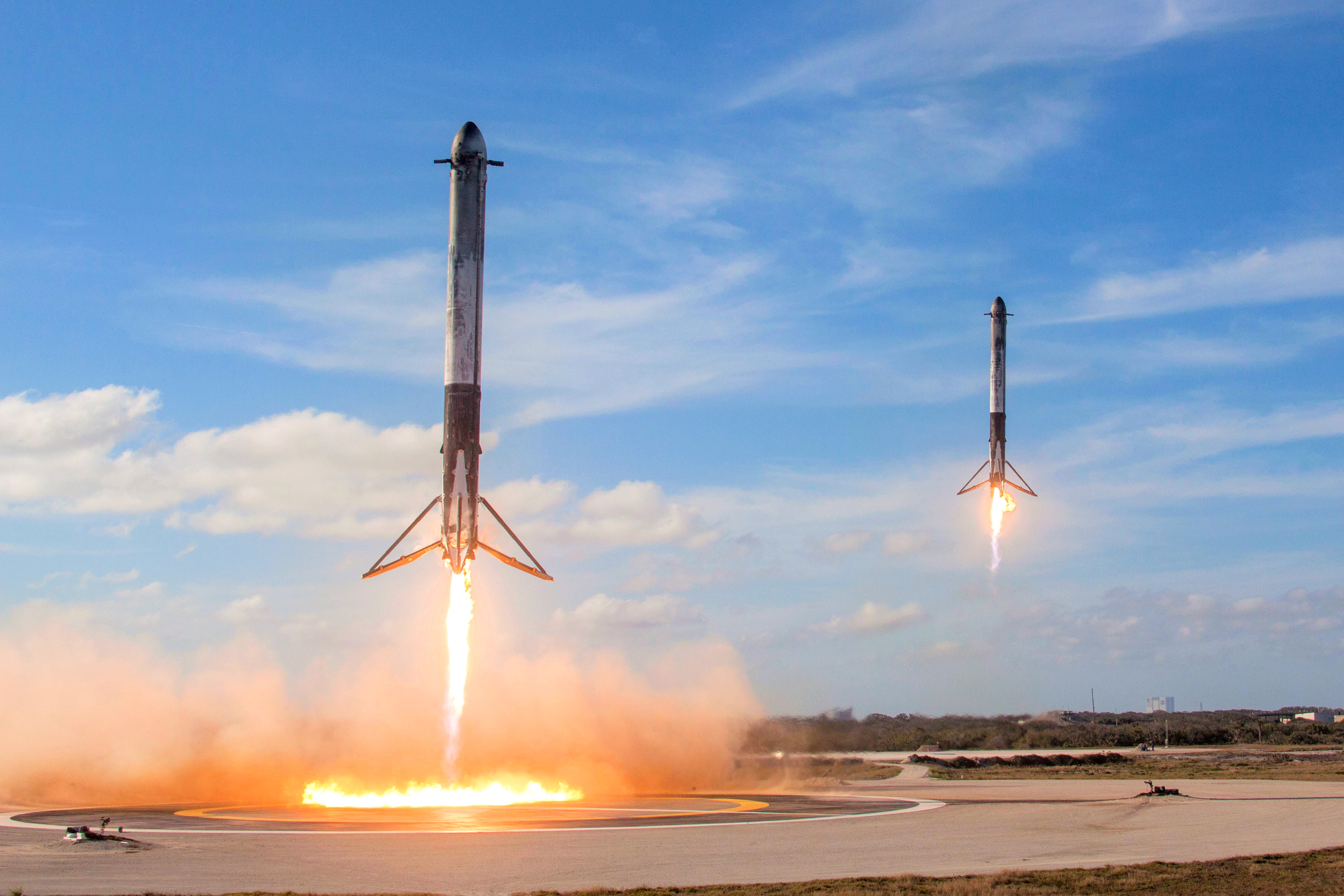 SpaceX Falcon Heavy Poised for Launch with Tesla Roadster as
