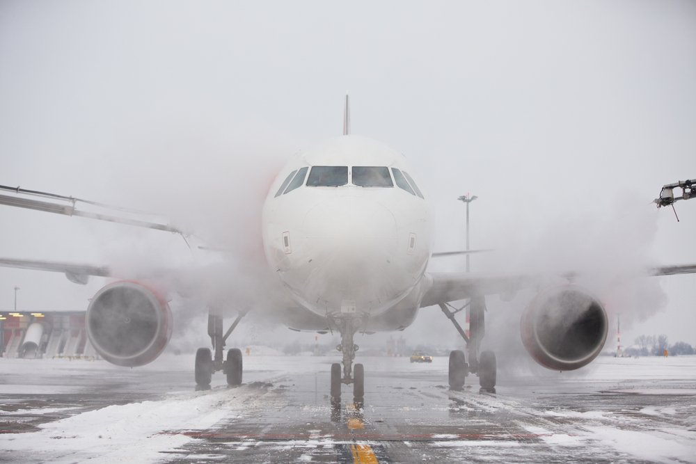 Aircraft in a snowstorm