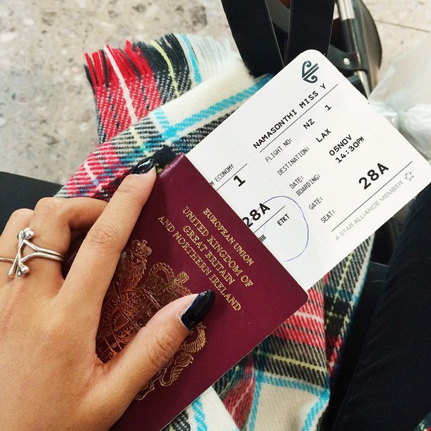 British Passport and Flight Ticket