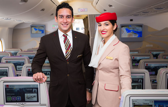 Emirates Flight Attendants Before Their Flight