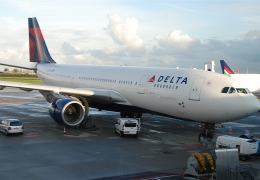 Delta flight aborted after engine catch fire