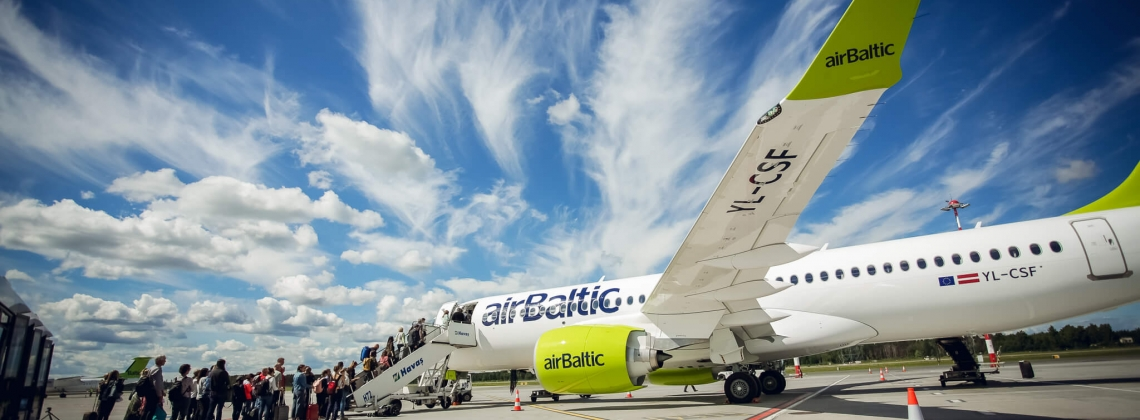 airBaltic Carries 99% transfer passengers on time in 2017
