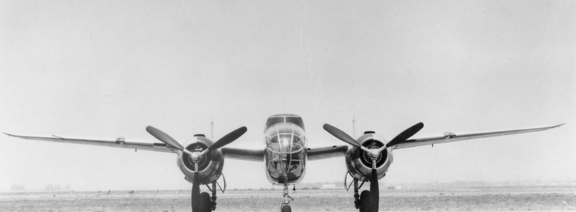 History hour: the first NA-62 bomber takes off