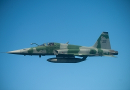 Brazilian Air Force F-5 crashes after take off