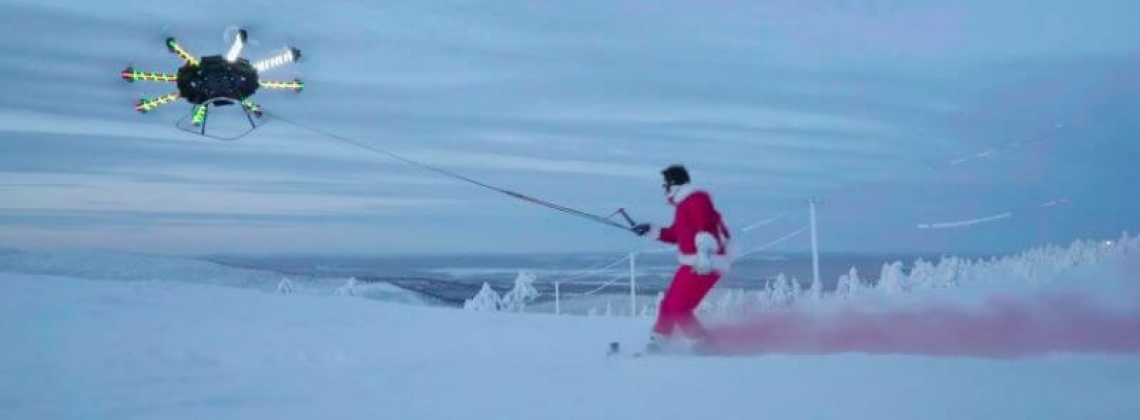 VIDEO: It is the season for drone snowboarding!