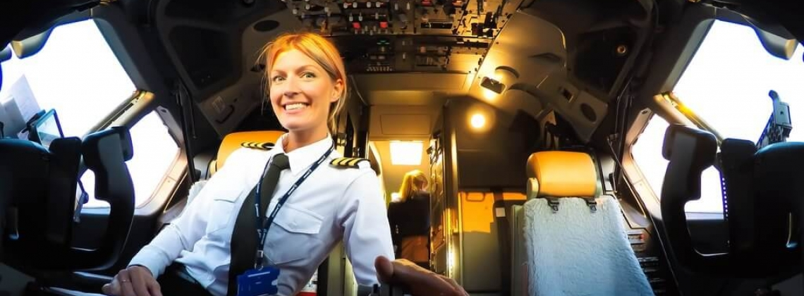 Why a woman pilot <br /> is still a rare bird in the sky?