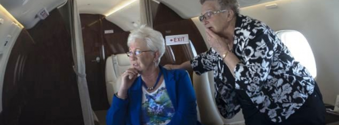 First Time: Two Ladies Never Been on a Plane Before