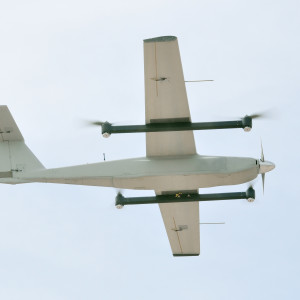 Fixed-Wing UAV Flying Vertically