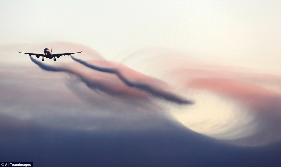 stunning images of vapor trails created by planes