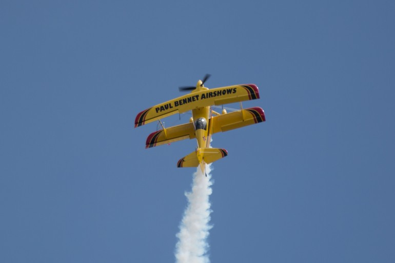 Australian aerobatic ace Paul Bennet in action at Avalon