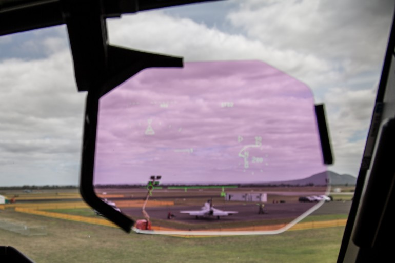 Heads-up display on the Atlas A400M