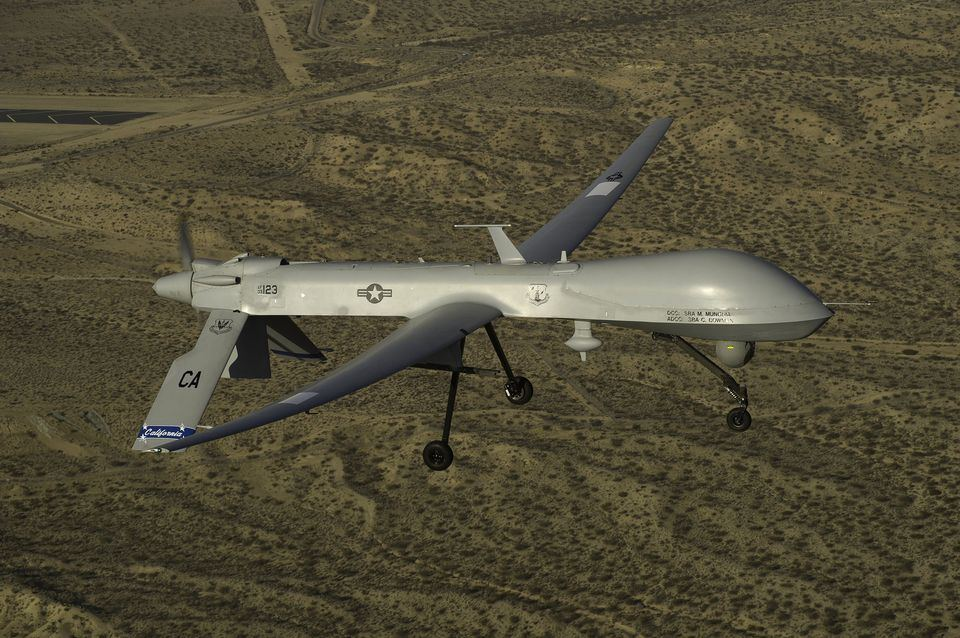 Predator drone MQ-1 crashed in Syria