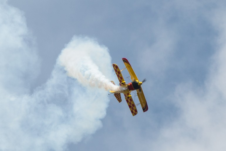 Paul Bennet during his breathtaking aerobatics show