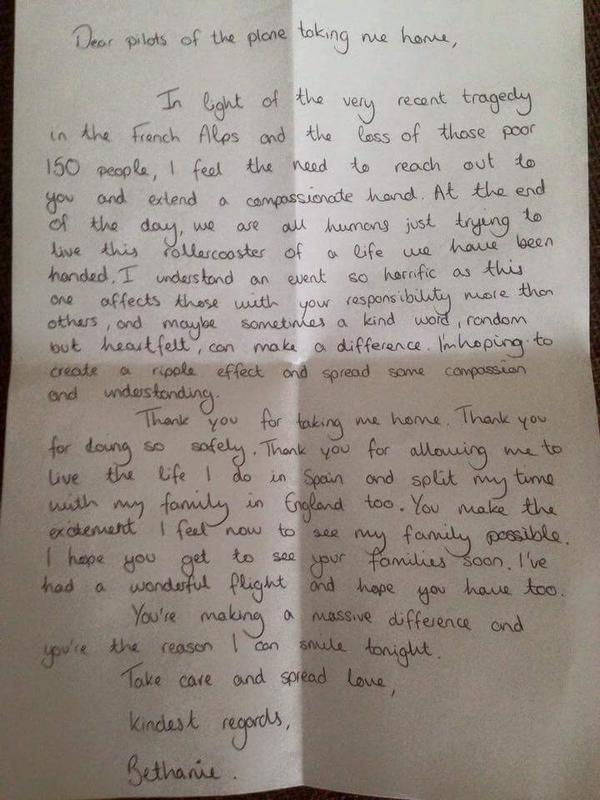 touching letter for pilots