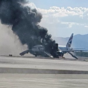Boeing 777 Catches Fire at Las Vegas Airport
