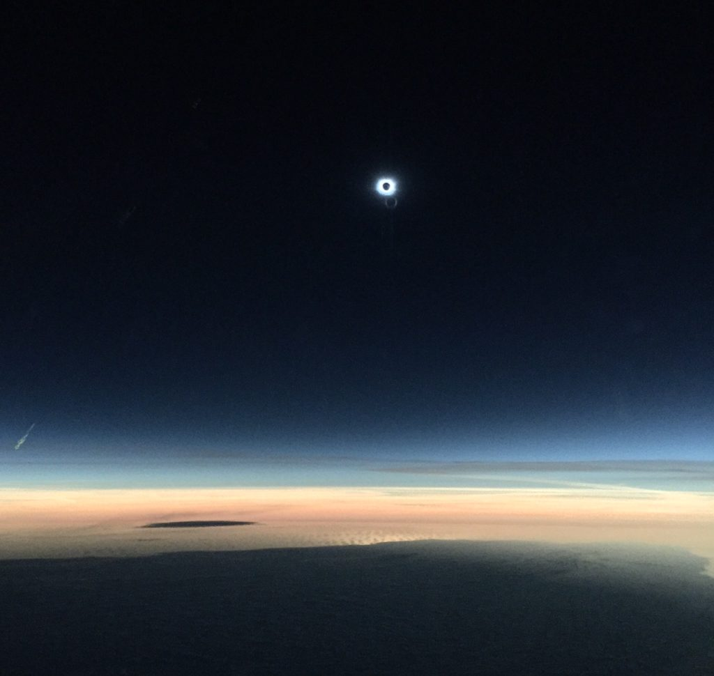 Video Shows Solar Eclipse From Alaska Airlines Flight