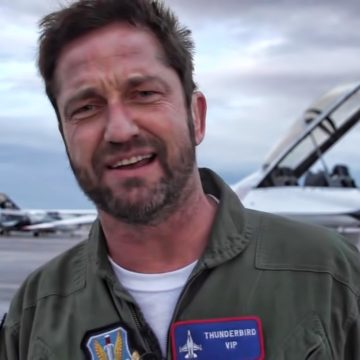 Gerard Butler Takes on 9.4G with U.S Air Force