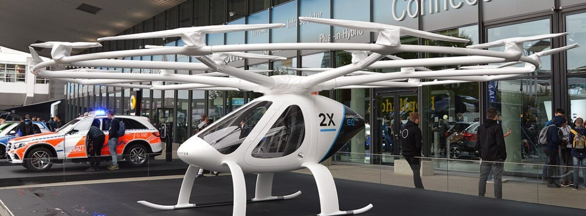 Volocopter: Electric Helicopter Piloted with a Joystick