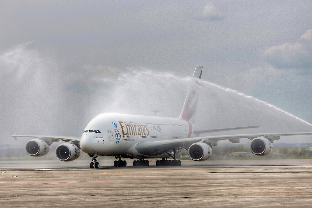 Airbus A380 Water Salute