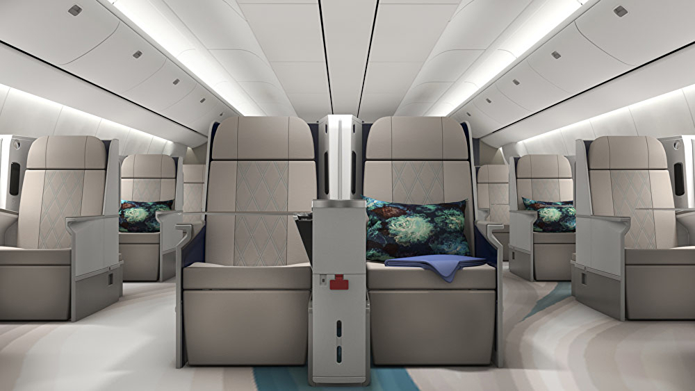 Inside crystal cruises luxury boeing 777 article tue for Boeing 777 interior