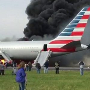 Fire at Chicago Airport