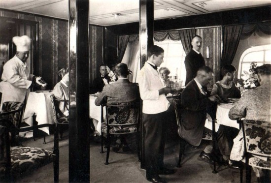 Heinrich kubis the first flight attendant aviation blog for Dining room in german