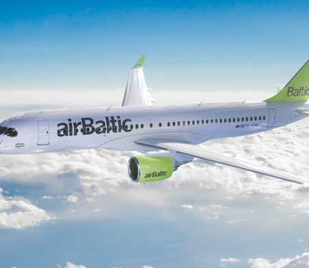 Bombardier Delivers First CS300 to Air Baltic