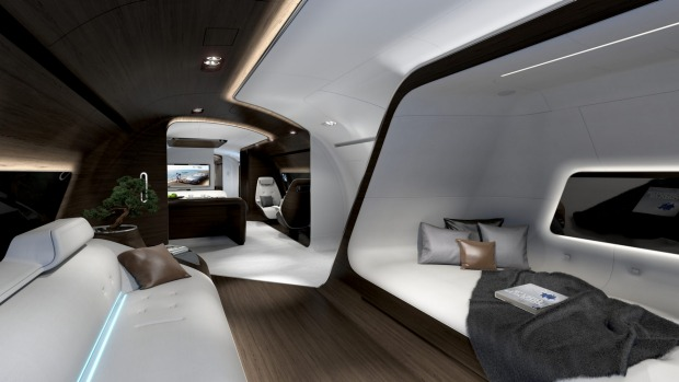 crystal cabin  innovative airplane cabin designs