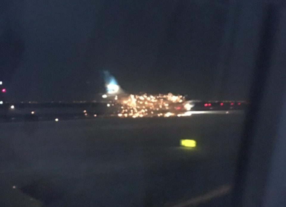 Engine Fire on Plane at JFK Airport