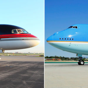 """Trump Force One"" vs. Air Force One"