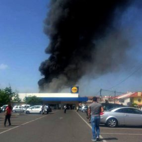Five killed as plane crashes in Lidl car park
