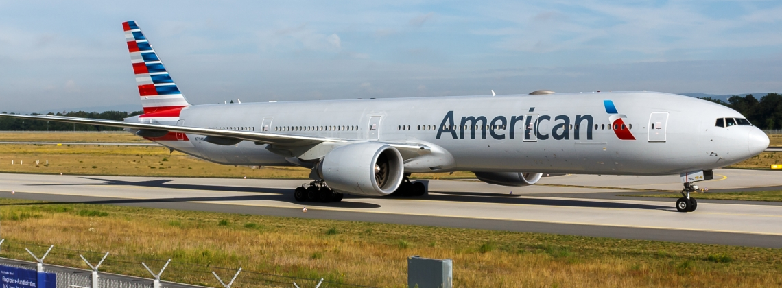 Fire Breaks Out Next to American Airlines Plane