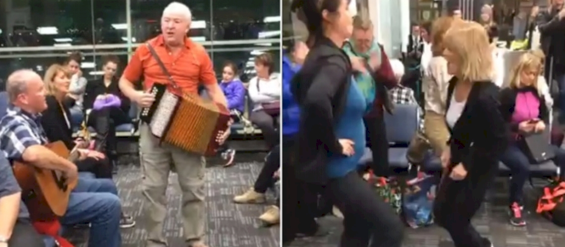 Delayed Flight Turns Into Party at Toronto Airport