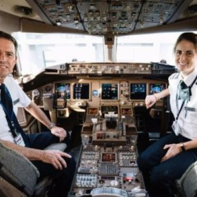 Father and Daughter Fly Last Flight Together as Pilots