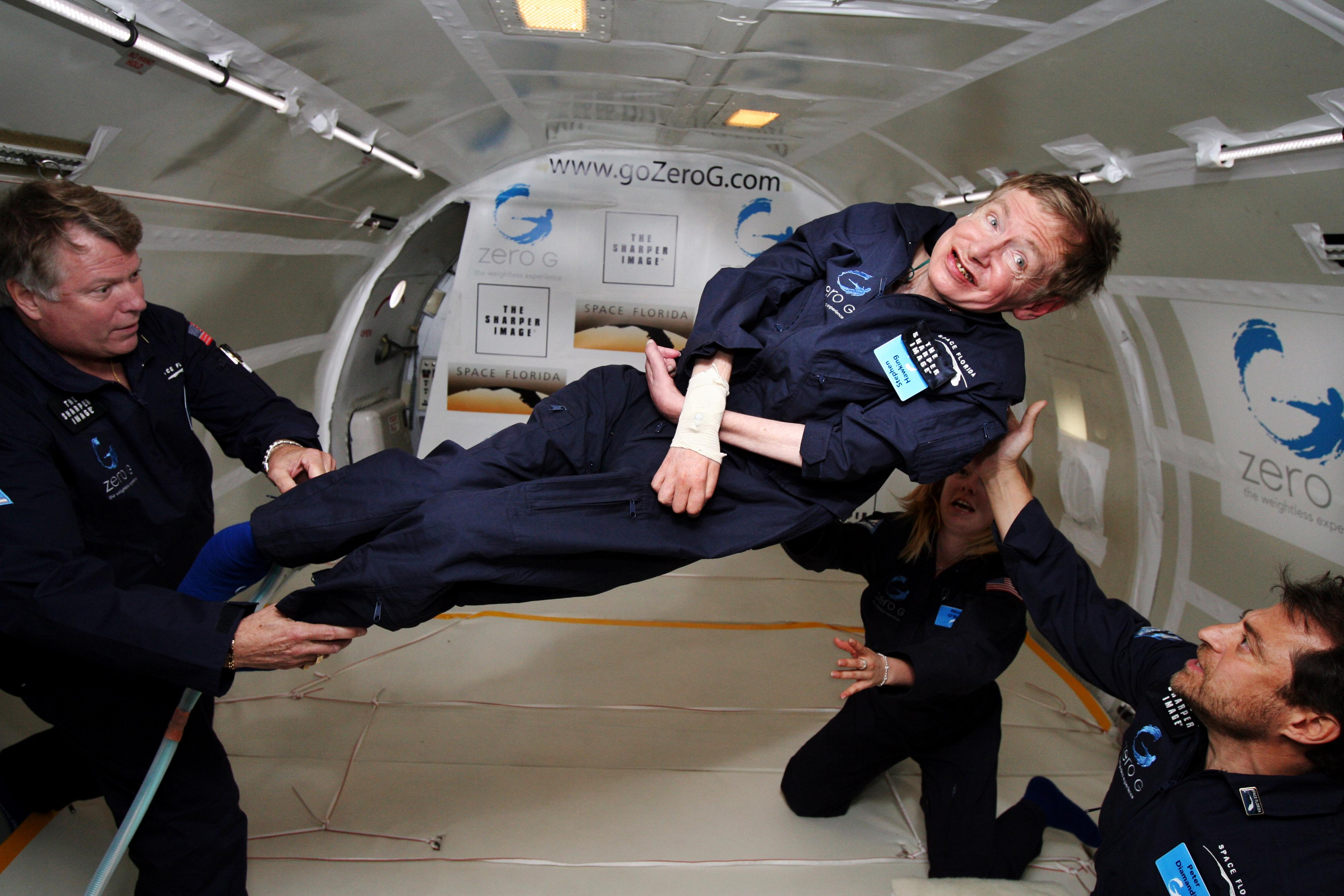 What happens on a zero gravity flight?