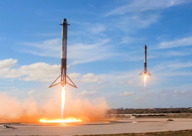SpaceX Falcon Heavy Poised for Launch with Tesla Roadster as Cargo