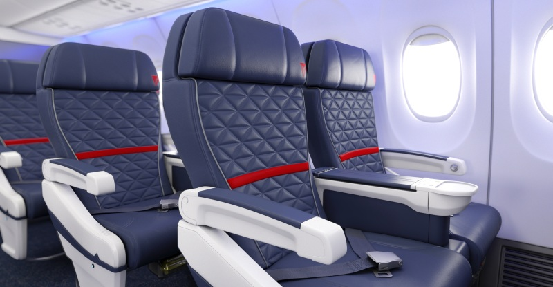 Why In The Most Of Airplanes Seats Are Blue?
