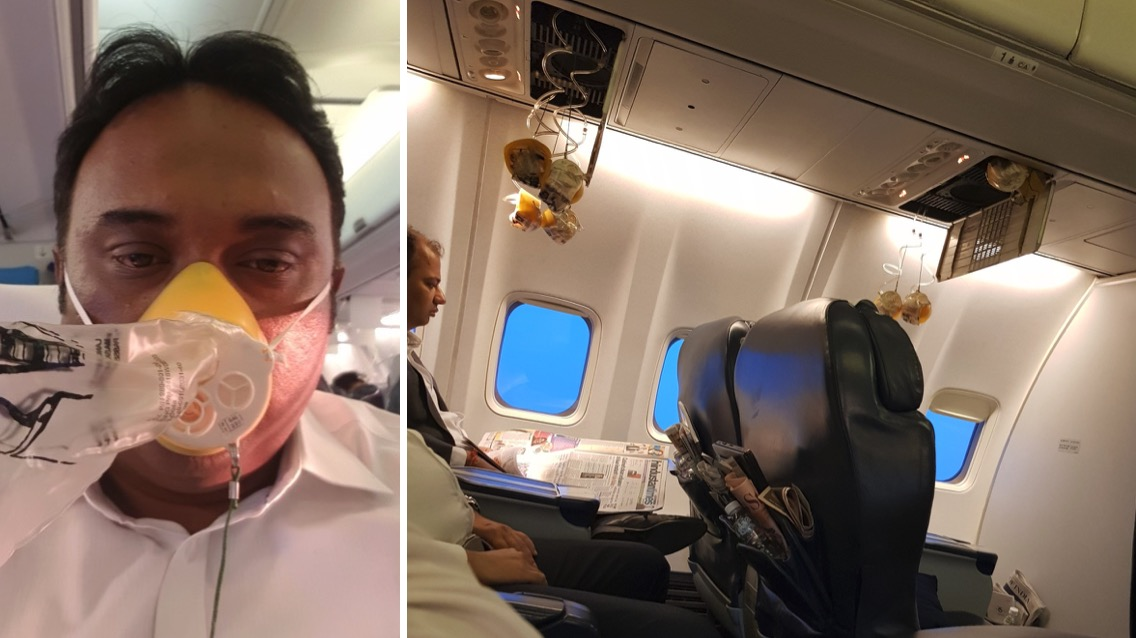 Bleeding after Cabin Crew forgets to set the oxygen pressure. Jet airways cabin oxygen masks