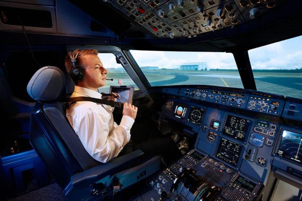 A Pilot in a Simulator