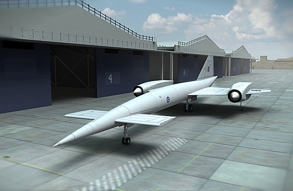 Avro 730 startegic bomber. A concept shown.
