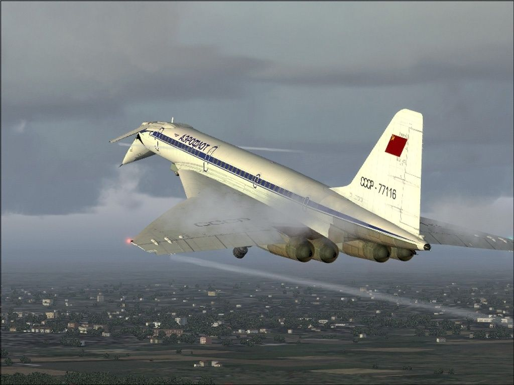 Tupolev Tu-144 in the air
