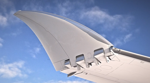Boeing 777X folding wing tips