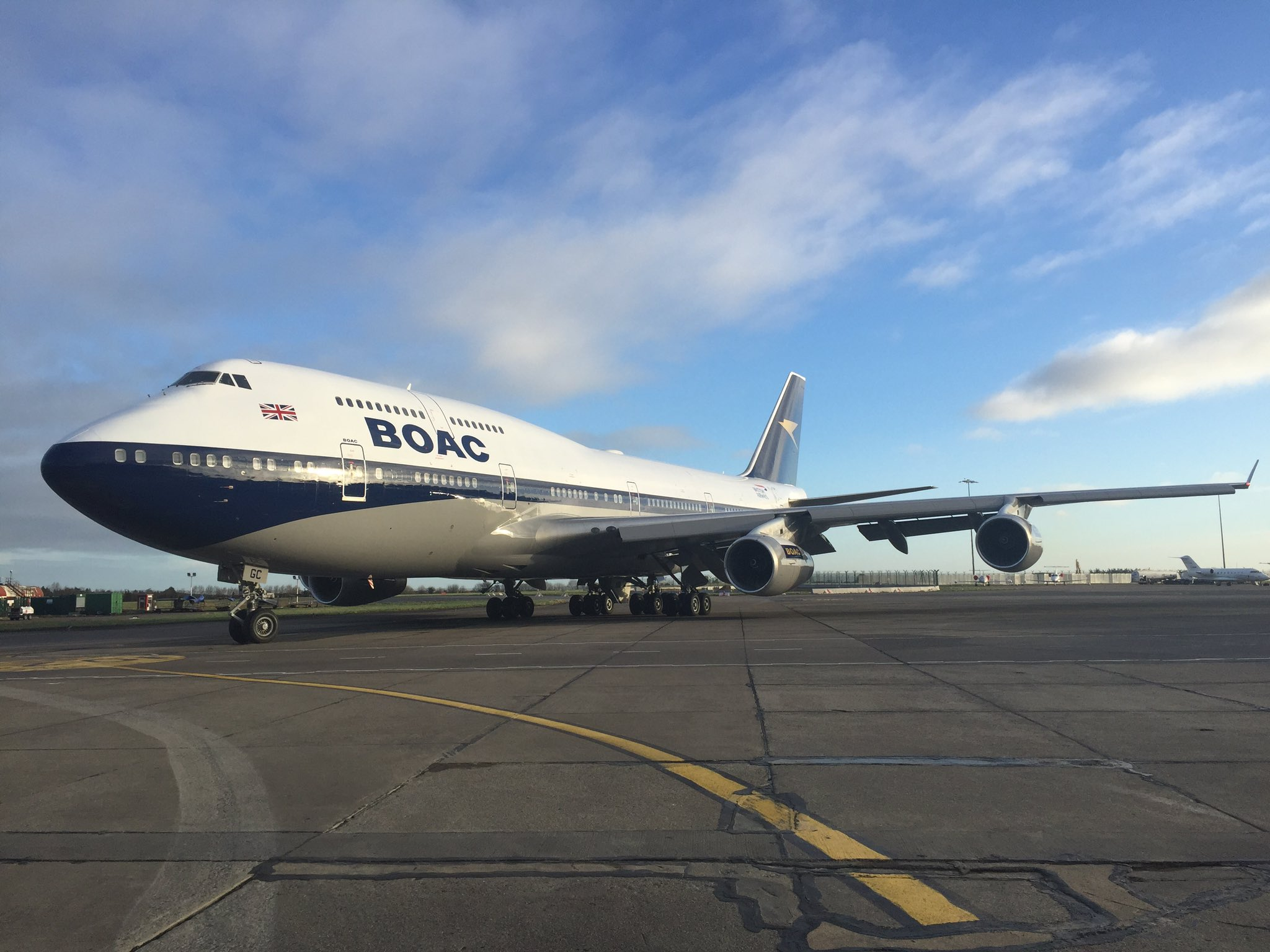 British Airways Reveals the classic BOAC livery on its Boeing 747