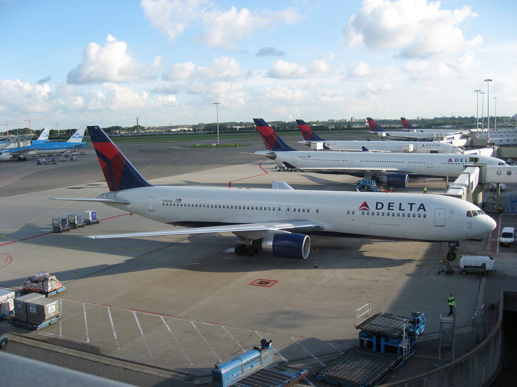 Delta Airlines Aircraft At Amsterdam SchipholDelta Airlines Aircraft At Amsterdam Schiphol