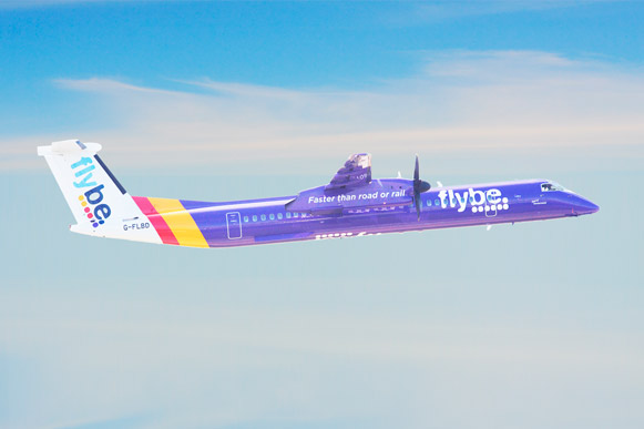 Flybe, one of the struggling airlines in the UK