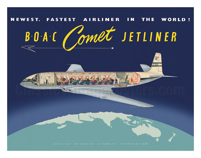 BOAC Comet Jetliner Poster. Author: Unknown