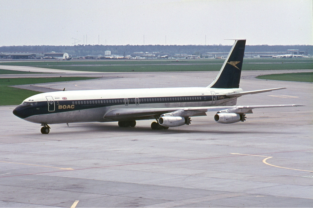 BOAC replaced the Comets with the Boeing 707