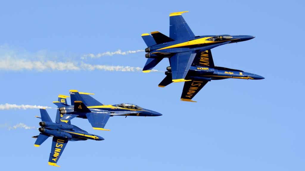 The Blue Angels are one of the highlights of Miramar Air Show