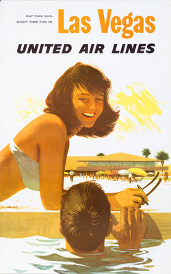 United Airlines Poster Hawaii. Author: Stan Galli